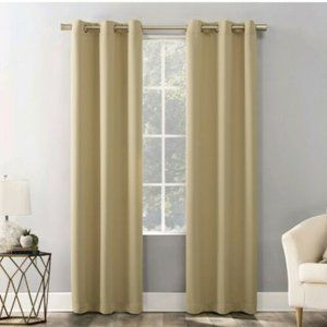 """Mainstays Yellow Blackout Curtain Panel 40""""x84"""""""